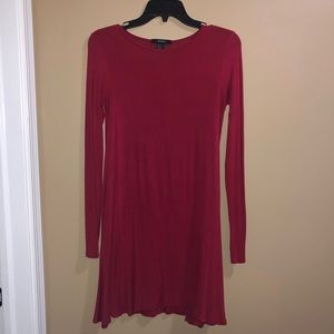 Red long sleeve dress size M